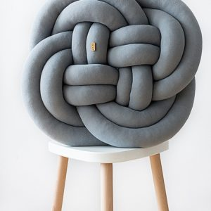 Coussin Noeud - gris clair