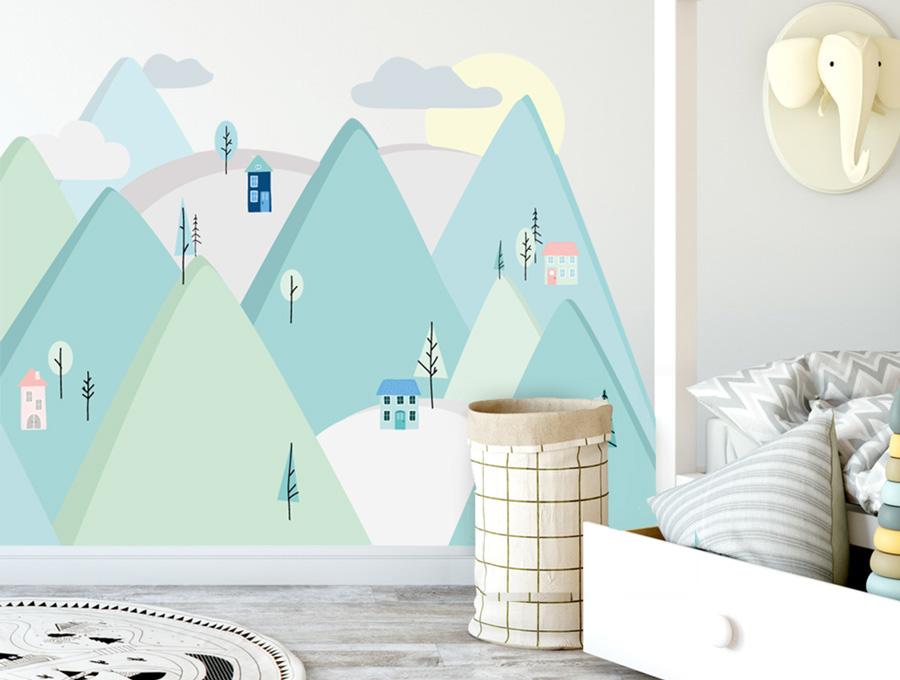 Sticker - montagne menthe