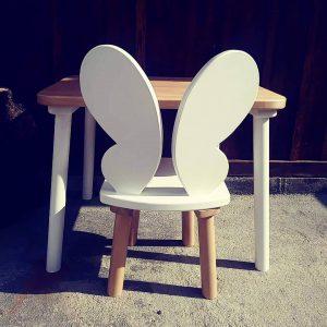 chaise bois papillon